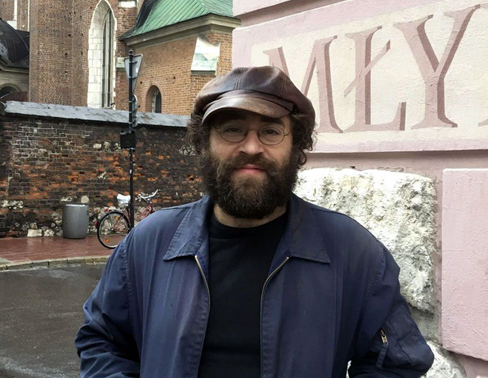Michael Rubenfeld, one of the four co-founders of Festivalt, which runs concurrently with the Krakow Jewish Culture Festival (Photo/Sharon Eshel Gloster)