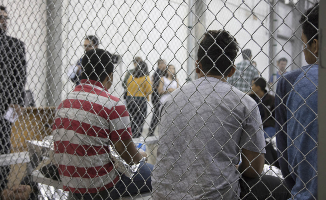 Immigrants apprehended by Border Patrol seen at the Central Processing Center in McAllen, Texas, June 17, 2018. (Photo/U.S. Customs and Border Protection)