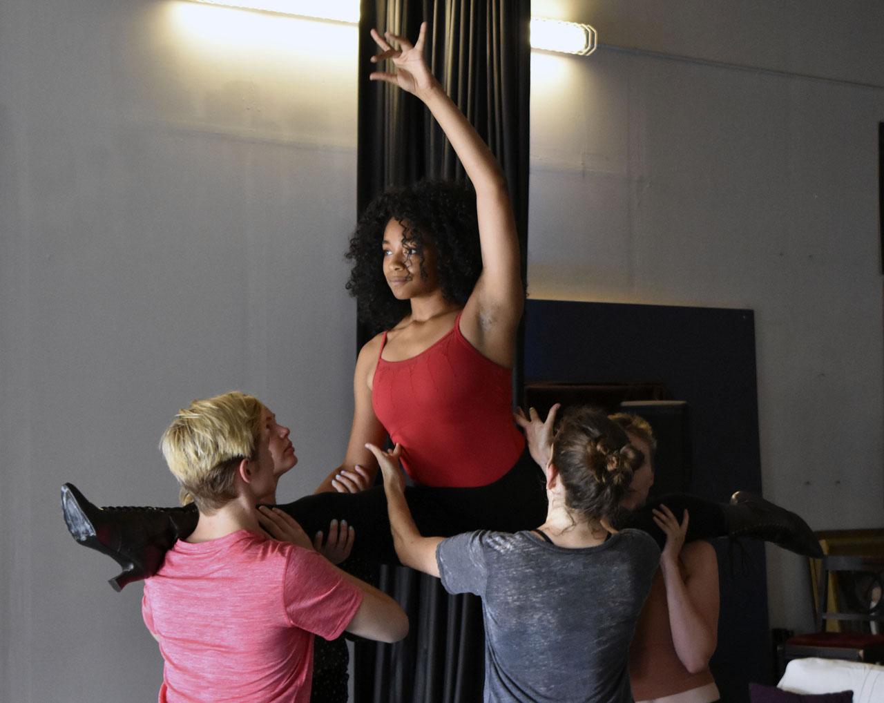 """Cabaret"" dancers in rehearsal (Photo/Courtesy D. Shaindlin)"