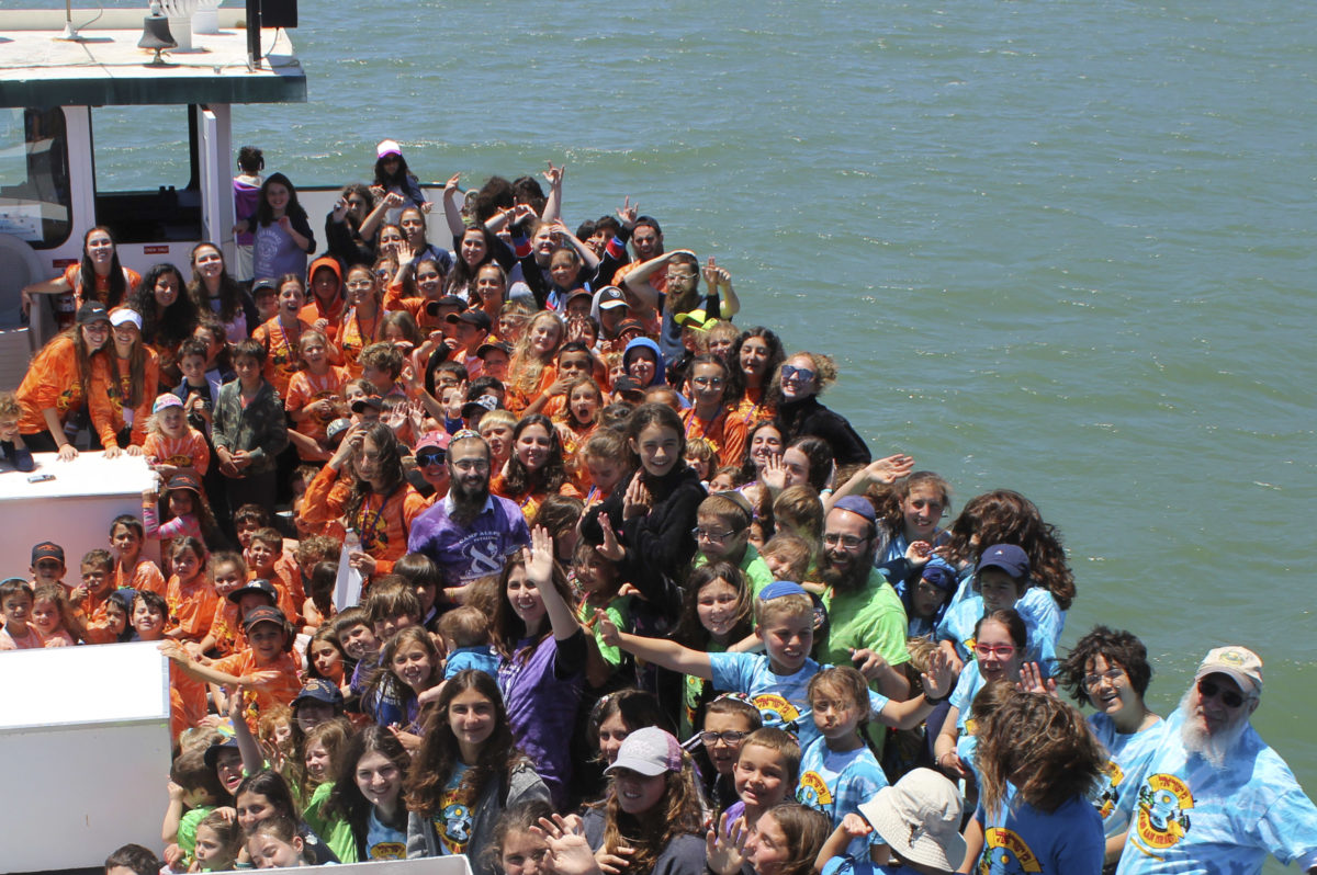 More than 300 kids from seven Chabad summer camps joined together for a cruise on San Francisco Bay in late June.