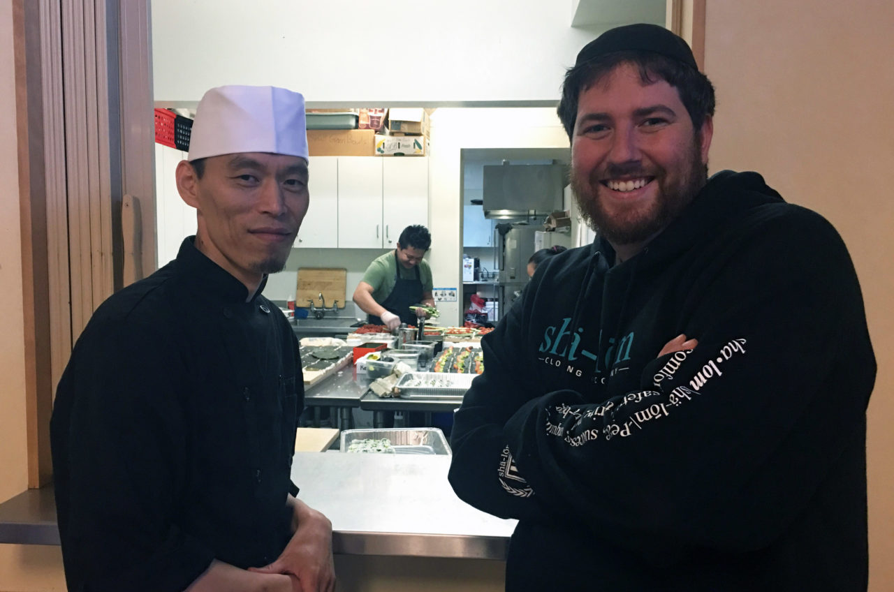 L'Chaim Foods founder Alex Shandrovsky and his partner, chef Alex Kim