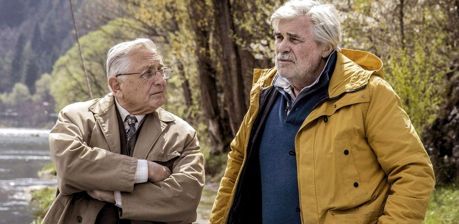 "Jirí Menzel (left) and Peter Simonischek in ""The Interpreter"" (Photo/Courtesy Menemsha Films-JFI)"