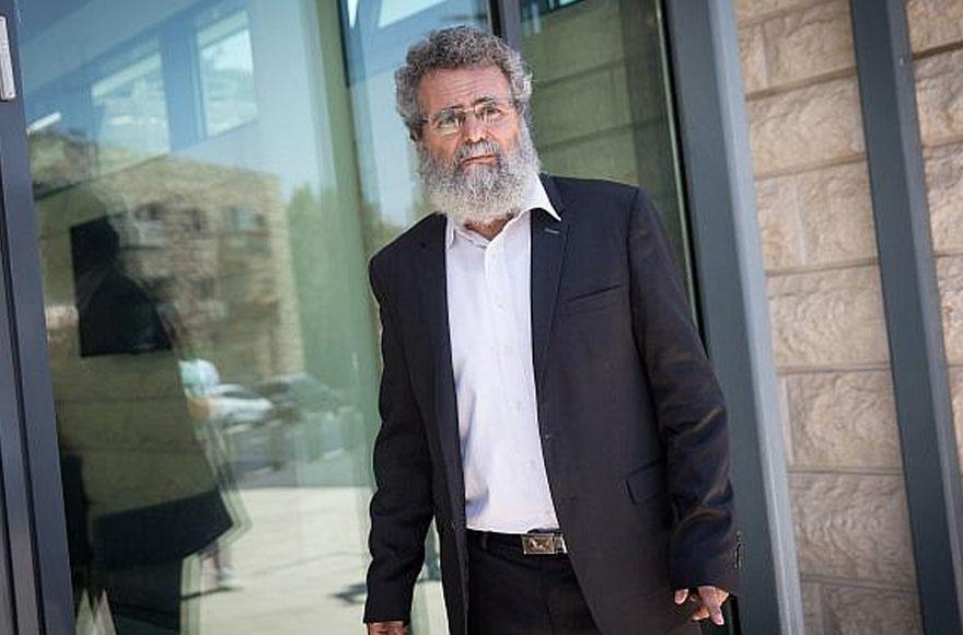 Rabbi Dov Haiyun in Jerusalem on July 19 (Photo/JTA-Flash90-Miriam Alster)
