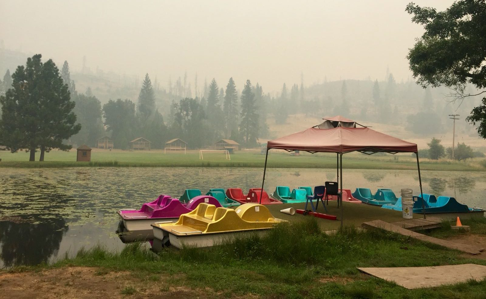 Camp Tawonga near Yosemite was evacuated July 30 over concerns about smoky air from the Ferguson Fire. (Photo/Camp Tawonga-Julia Rose Kibben)