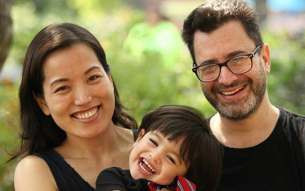 Paul Golin, executive director of Society for Humanistic Judaism, with his wife Yurika Mizuno Golin and their son