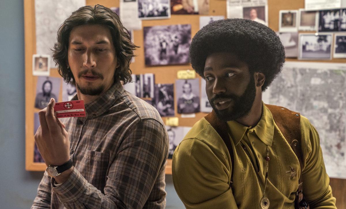 "Adam Driver, left, and John David Washington in a scene from Spike Lee's ""BlacKkKlansman."" (Photo/David Lee-Focus Features)"