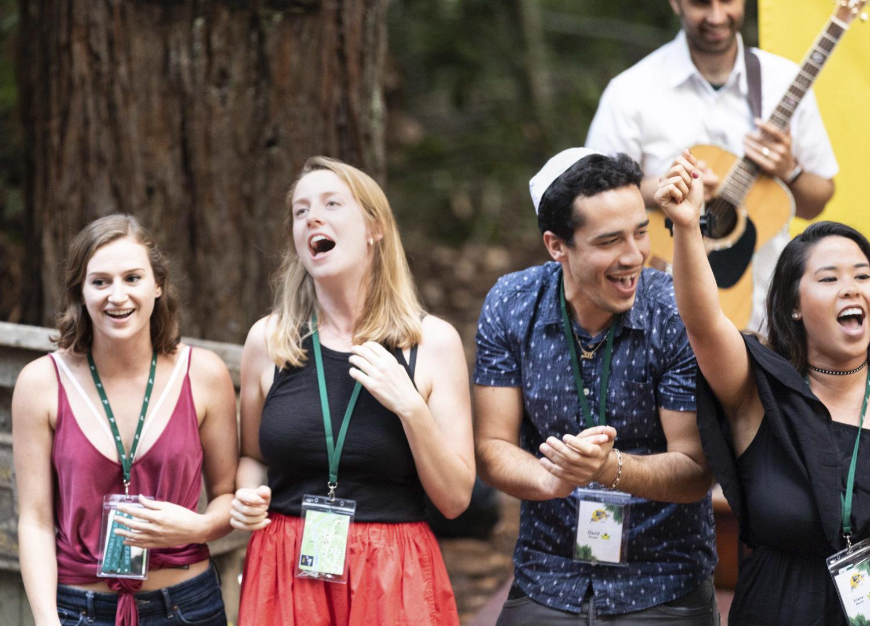 A classic summer camp song session at Camp Nai Nai Nai (Photo/Shelly Howe)