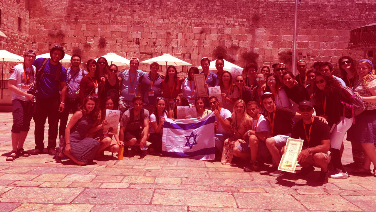 A group of Americans on Birthright Israel, a continuity-focused program for Jewish young adults. (Photo/from file)
