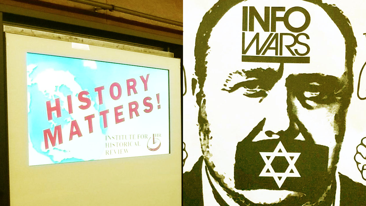 An ad by a Holocaust denial group currently appearing in two S.F. BART stations (left) and anti-Semitic flyers left at five East Bay synagogues shortly before Rosh Hashanah (right)