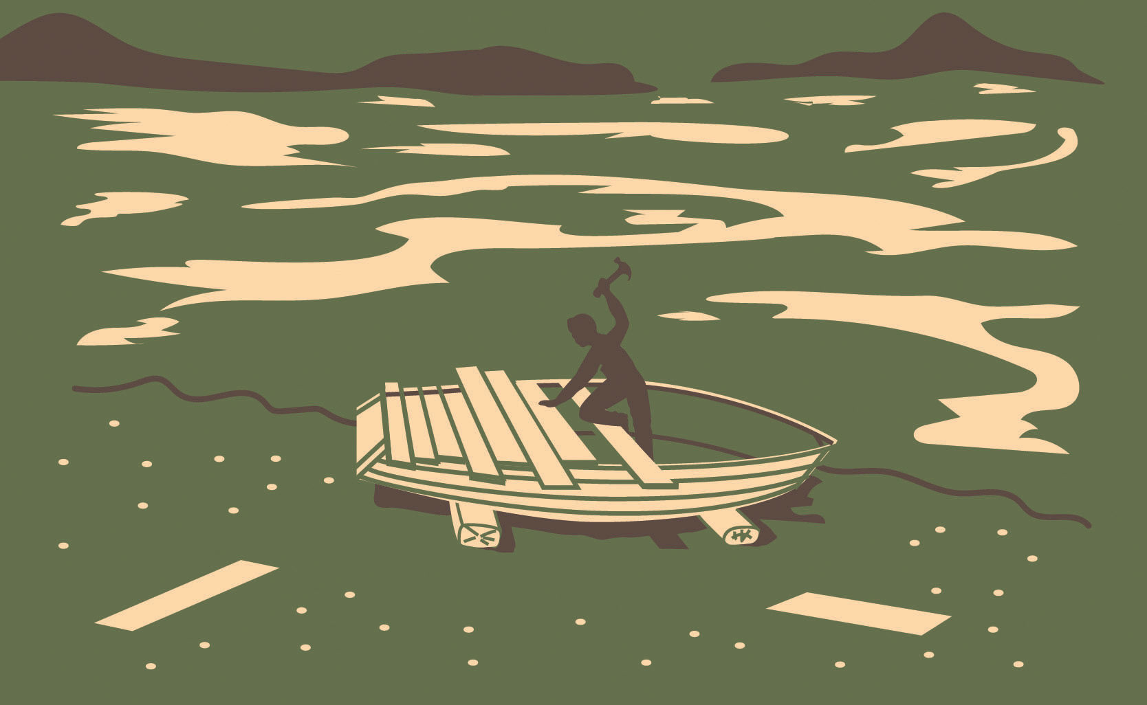 """From the cover of """"The Boatbuilder"""" by Daniel Gumbiner"""