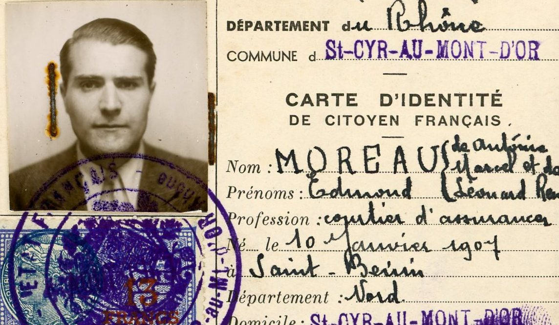 False papers used by the Dutch-French resistance in WWII