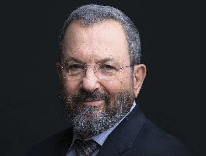 """Former Israeli Prime Minister Ehud Barak, from the cover of his memoir """"My Country, My Life"""""""