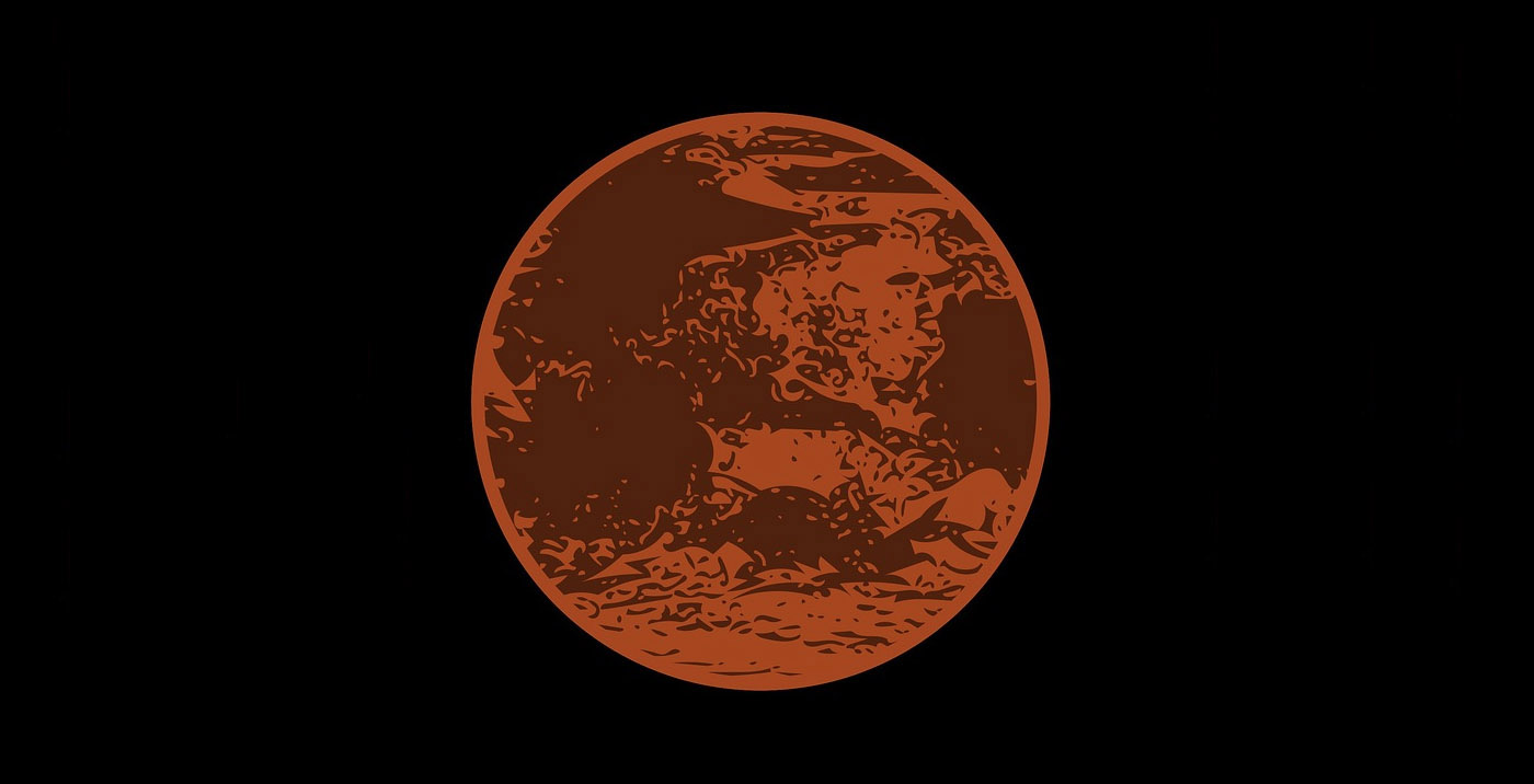 an illustration of the planet Mars
