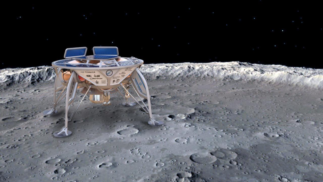 An artist's rendering of Israel's SpaceIL lunar spacecraft (Photo/Wikimedia)