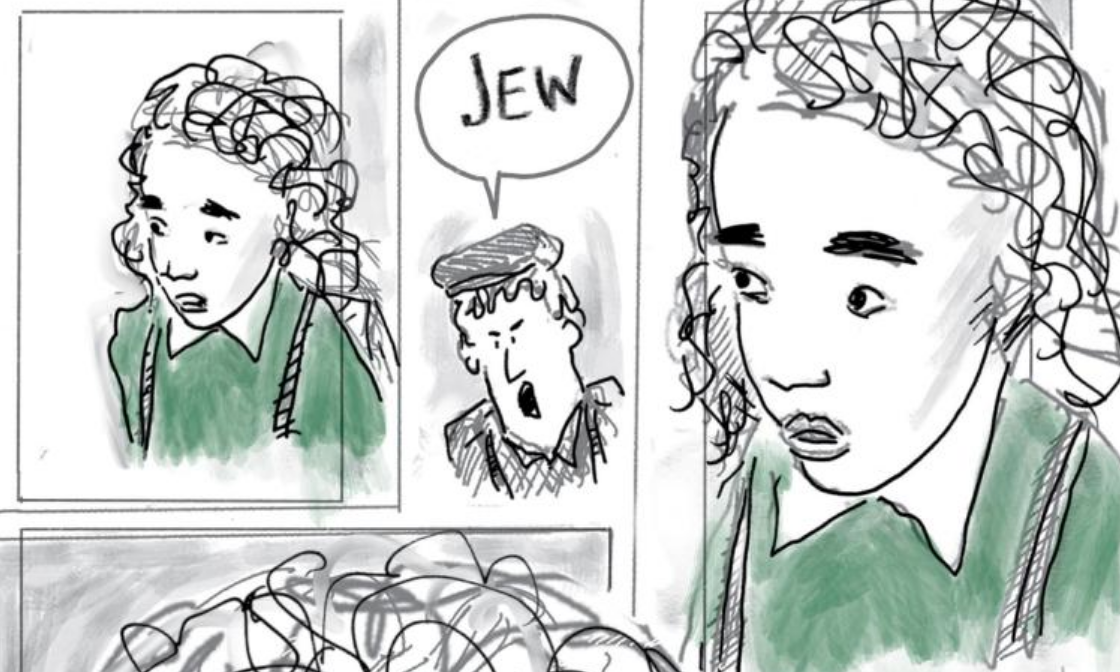 """A page from the new graphic novel """"The Three Escapes of Hannah Arendt"""""""