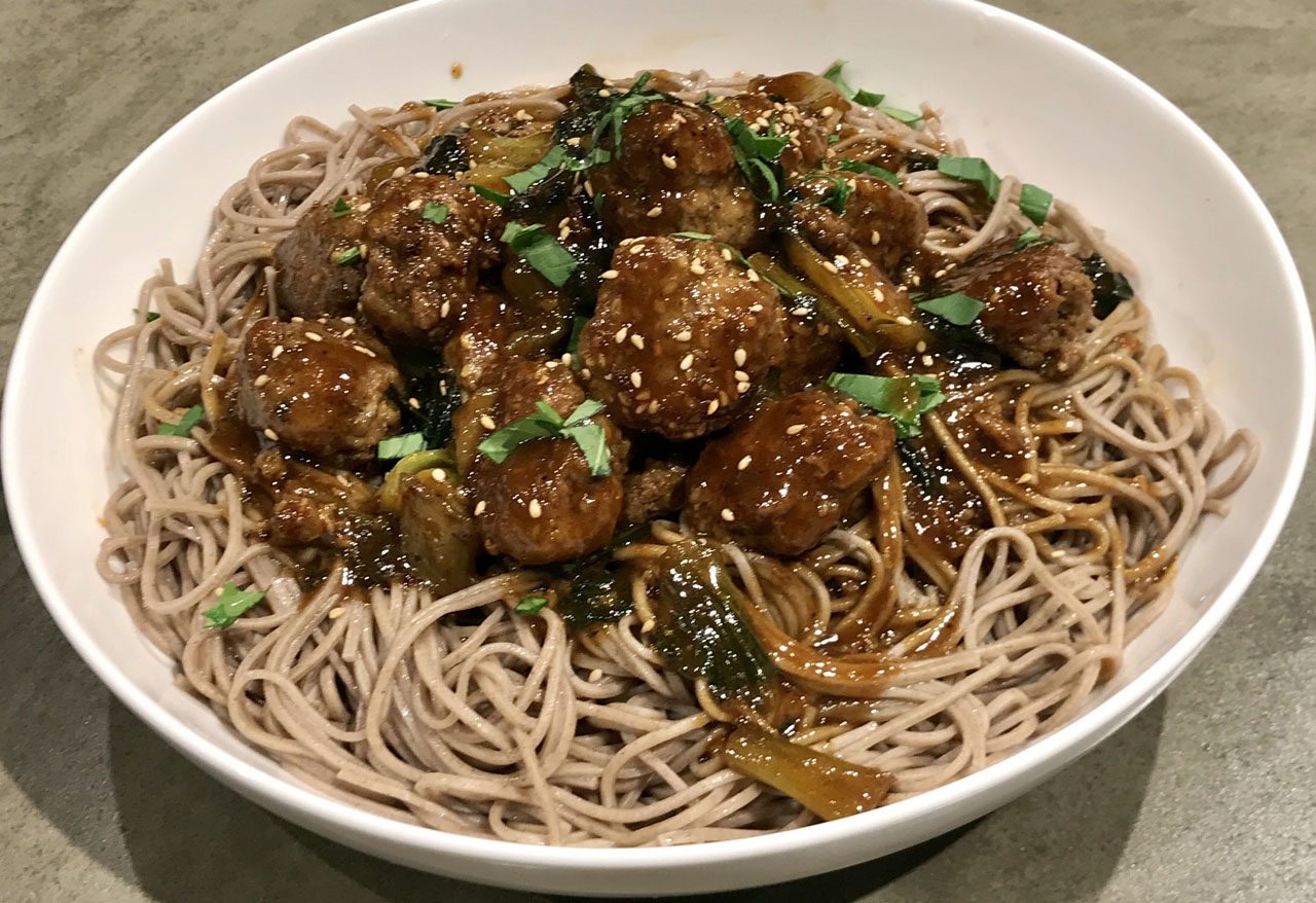 Faith Kramer's Meatballs with Buckwheat Noodles