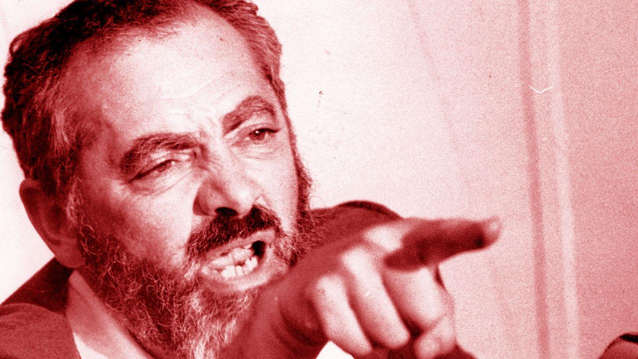 Rabbi Meir Kahane at a press conference, Aug. 31, 1984. (Photo/JTA-Gene Kappock-NY Daily News Archive via Getty Images)