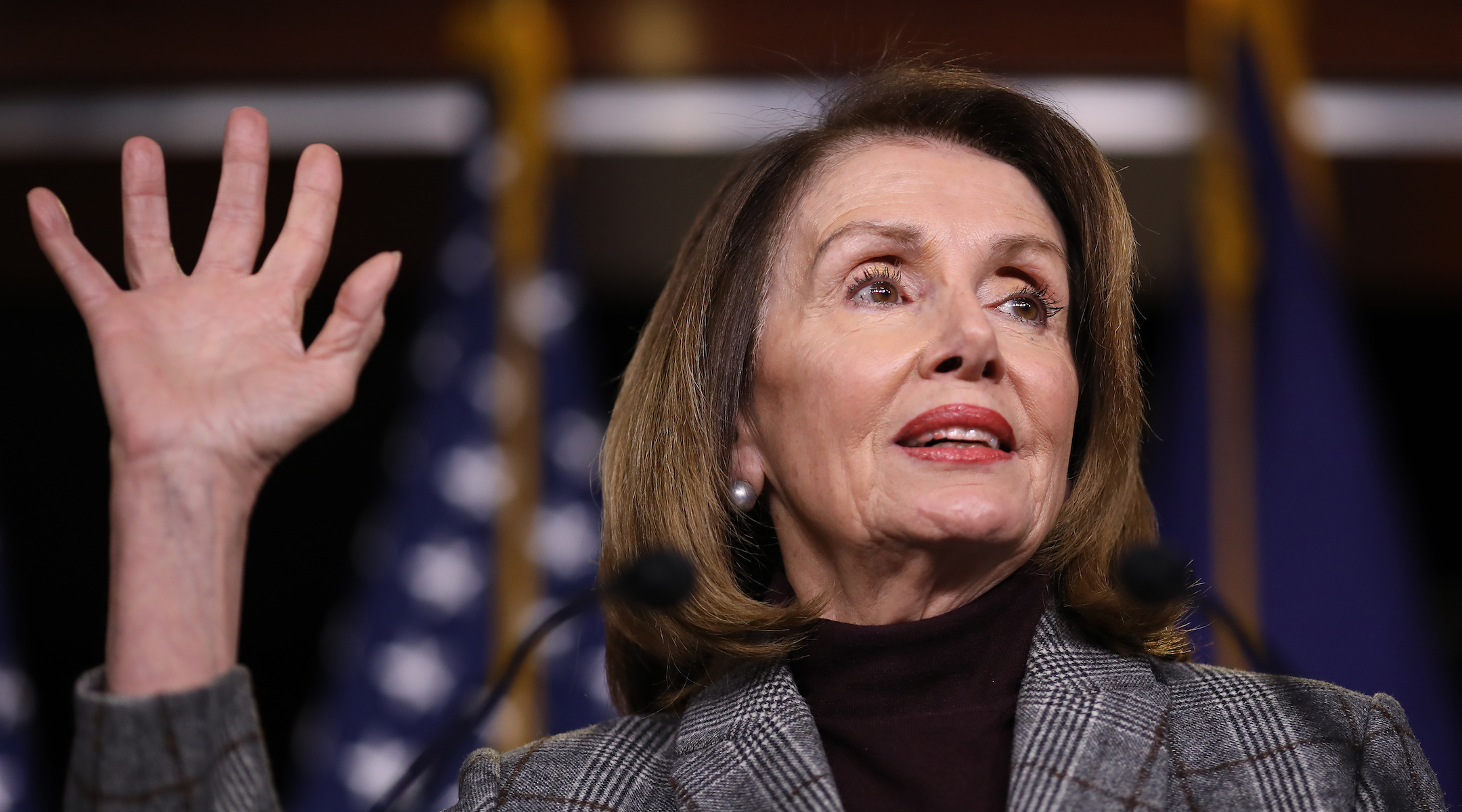 Nancy Pelosi at her weekly news conference at the Capitol, Feb. 28, 2019 (Photo/JTA-Win McNamee-Getty Images)