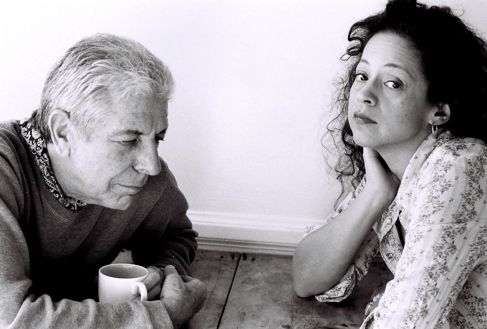 Perla Batalla with her mentor, Leonard Cohen. (Photo/Courtesy Perla Batalla)