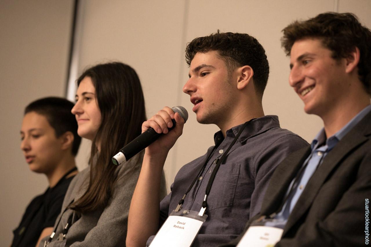 (From left) Kai Levenson-Cupp, Caroline Hall Sherr, David Reback and Eli Ganz (Photo/Stuart Locklear Photography)