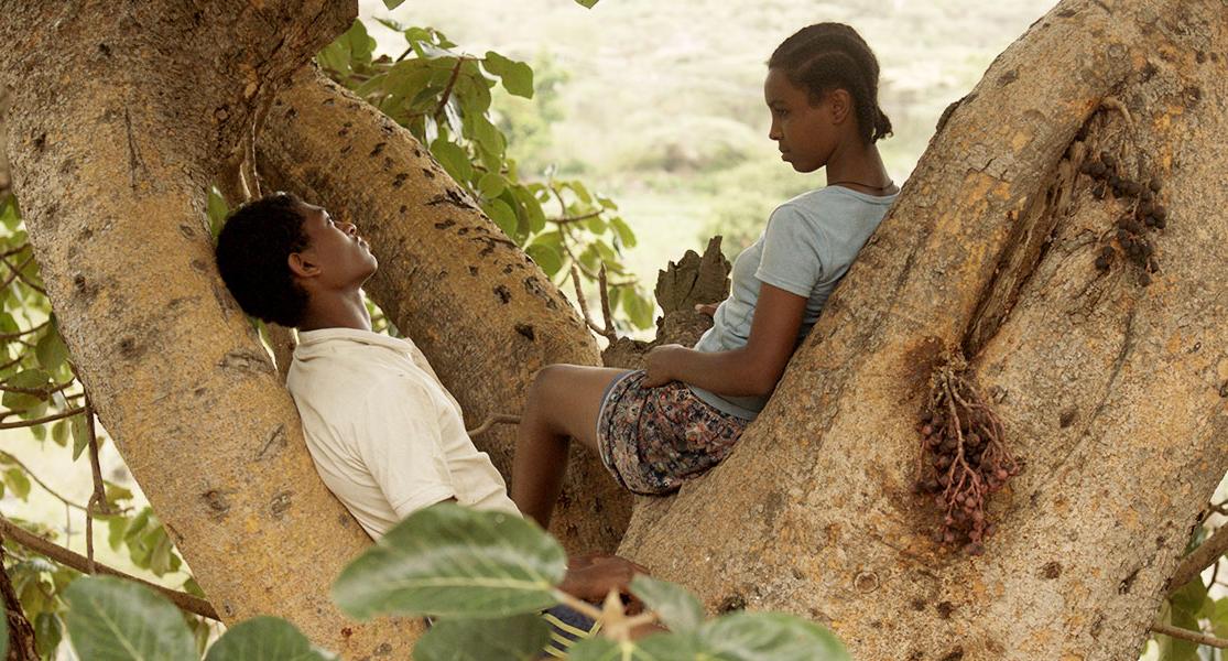 Ethiopian Jewish teenager Mina and her boyfriend Eli in 'Fig Tree'