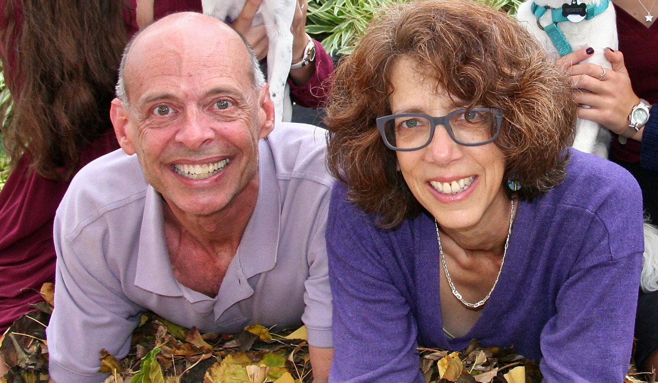 J. Senior Writer Rob Gloster, who passed away on April 9, 2019, with his wife, Sharon