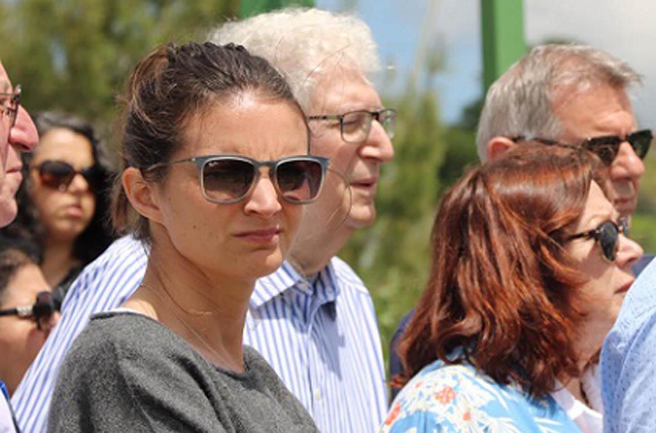 Laura Mandel in Israel earlier this month