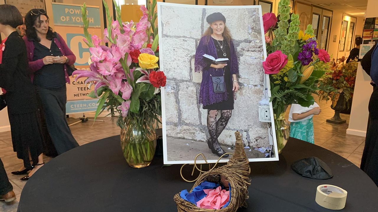 A photo of Lori Gilbert-Kaye at the Chabad of Poway, May 3, 2019. (Photo/JTA-Gabrielle Birkner)