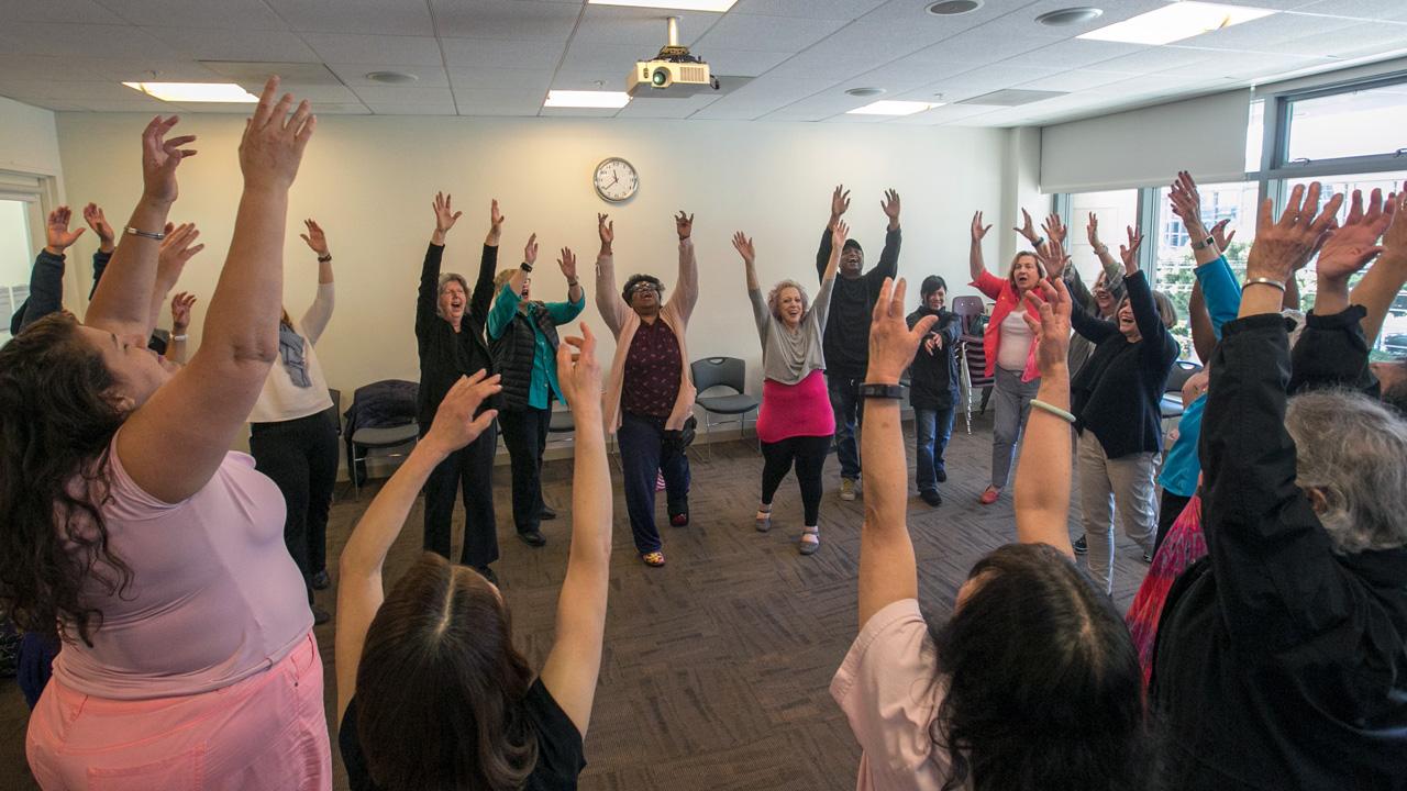 A brain fitness class at the JCC of San Francisco (Photo/Courtesy Charles Zukow Associates)
