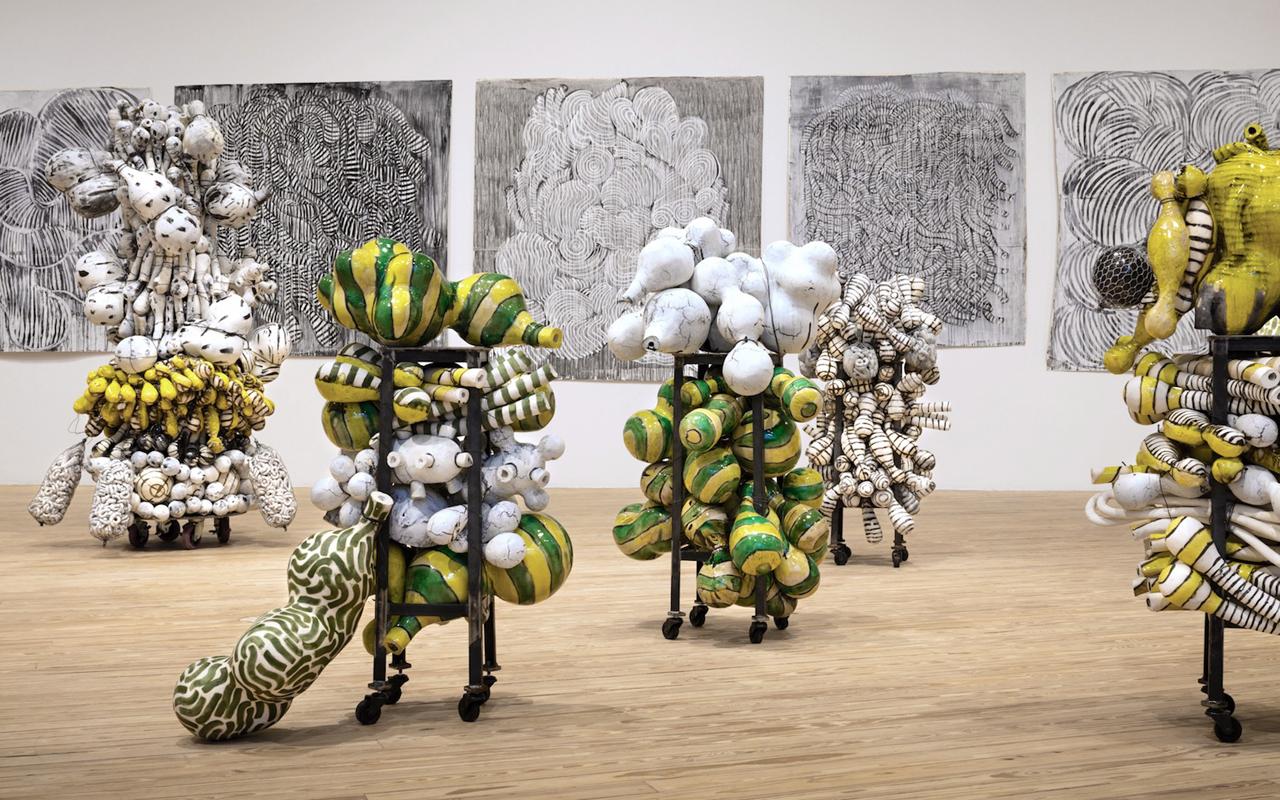 Annabeth Rosen's art on display at the Houston Contemporary Arts Museum in 2017 (Photo/Gary Zvonkovic)
