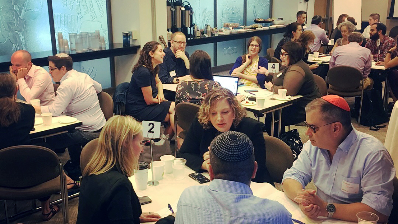 At a gathering earlier this year in New York, attendees brainstormed for a new Jewish holiday: Yom HaTzedek — Day of Justice. (Photo/Courtesy Andrew Mandel)