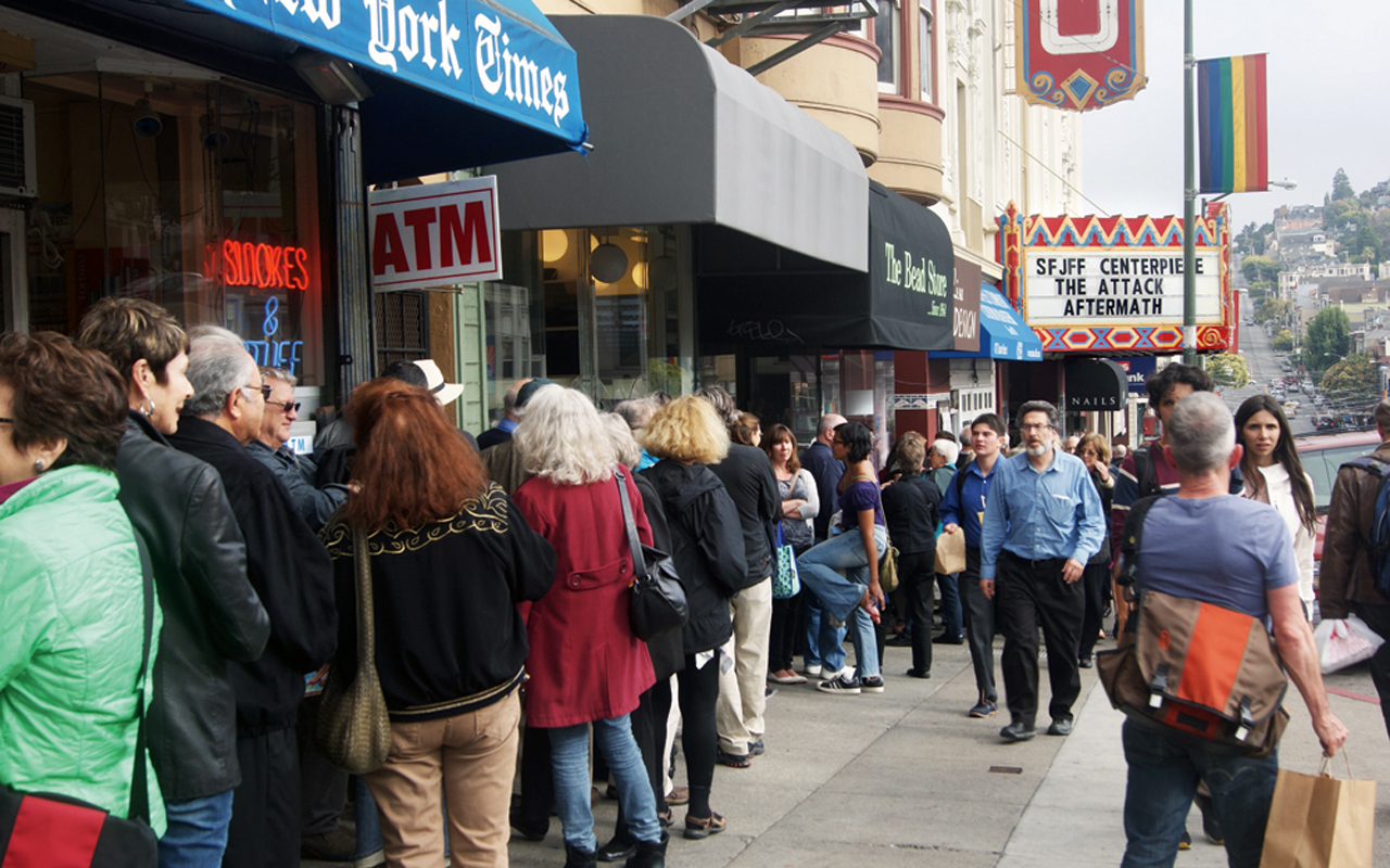 The line for a San Francisco Jewish Film Festival screening in 2013 (Photo/from file)