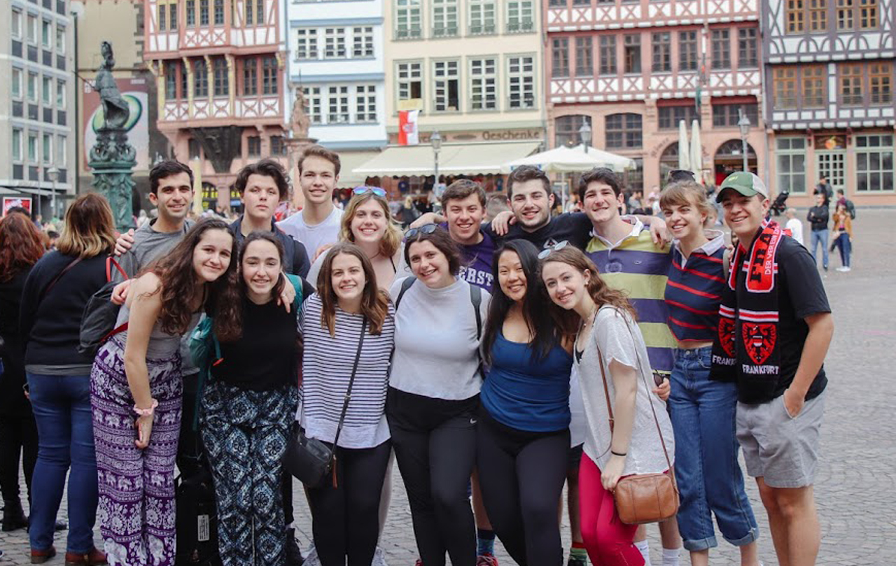 Emily Leyfer (second from right) with other teens on a BBYO-sponsored trip to Germany