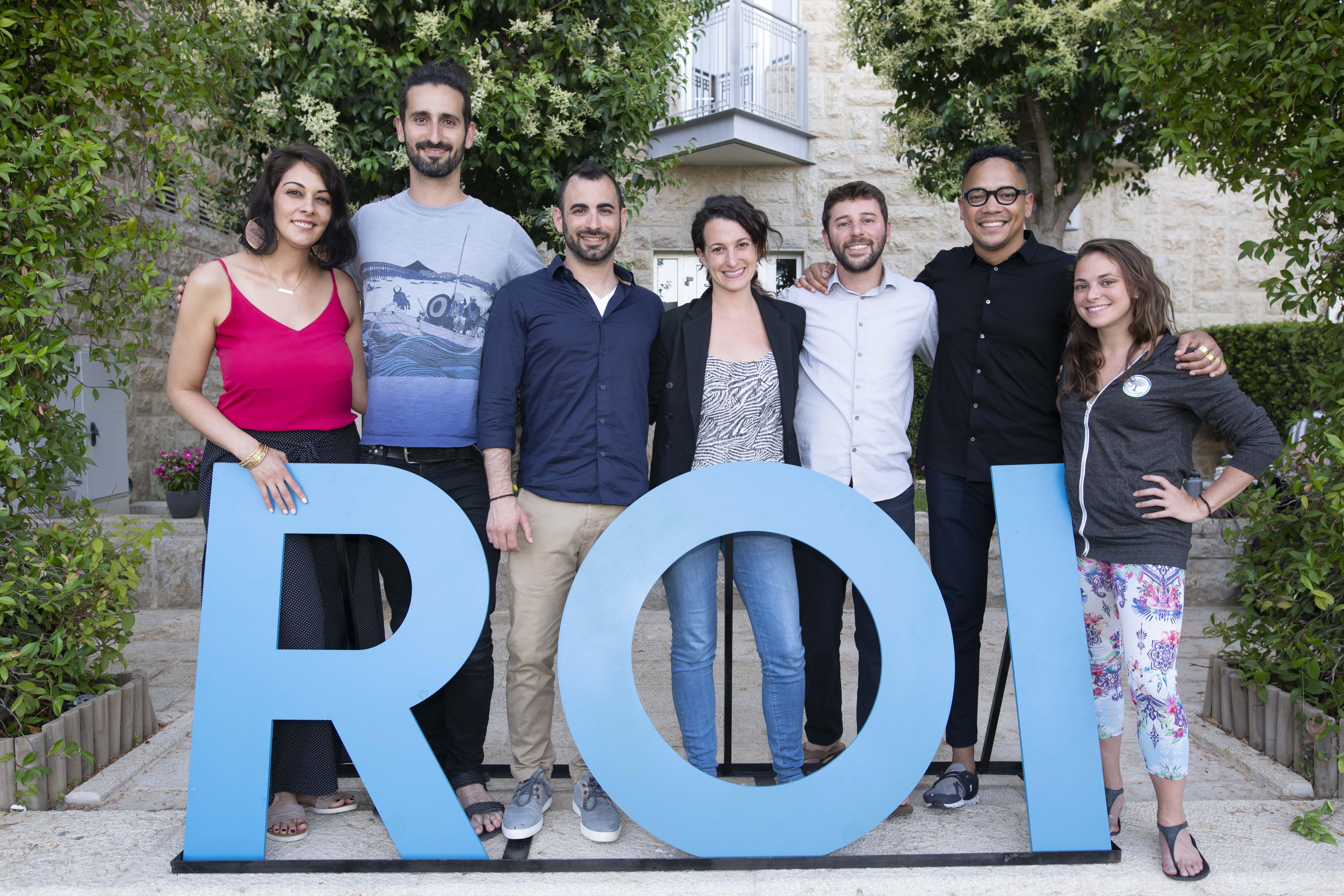(From left) Leili Davari, Jonathan Matus, Gilad Shamri, Alona Metz, Misha Safyan, Angel Alvarez-Mapp and Courtney Cardin. (Photo/Snir Kazir)