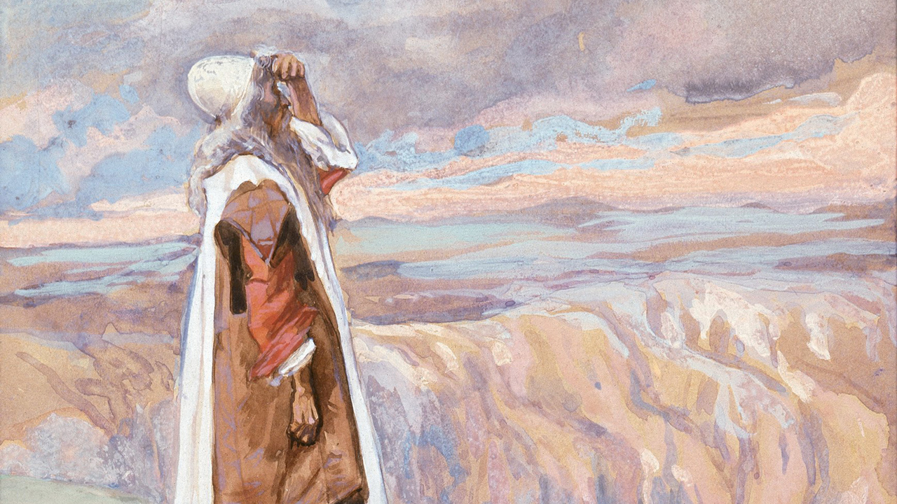 """Moses Sees the Promised Land From Afar"" by James Tissot, ca. 1900"