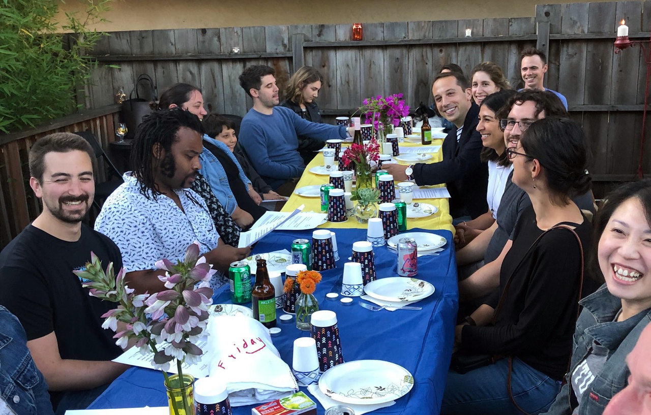 A 37°North Shabbat dinner in Berkeley this past summer (Photo/Courtesy Hamaqom)