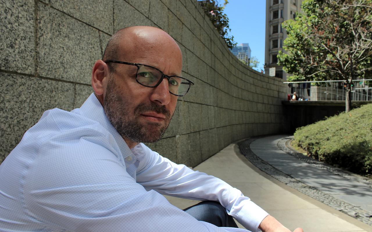 Neuroscientist Itamar Kahn in San Francisco during an August 2019 visit to the Bay Area (Photo/Gabriel Greschler)