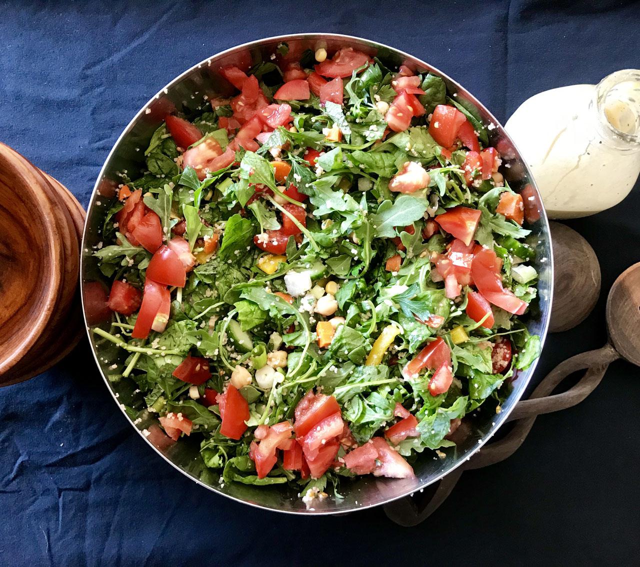 A Very Large Salad (Photo/Faith Kramer)