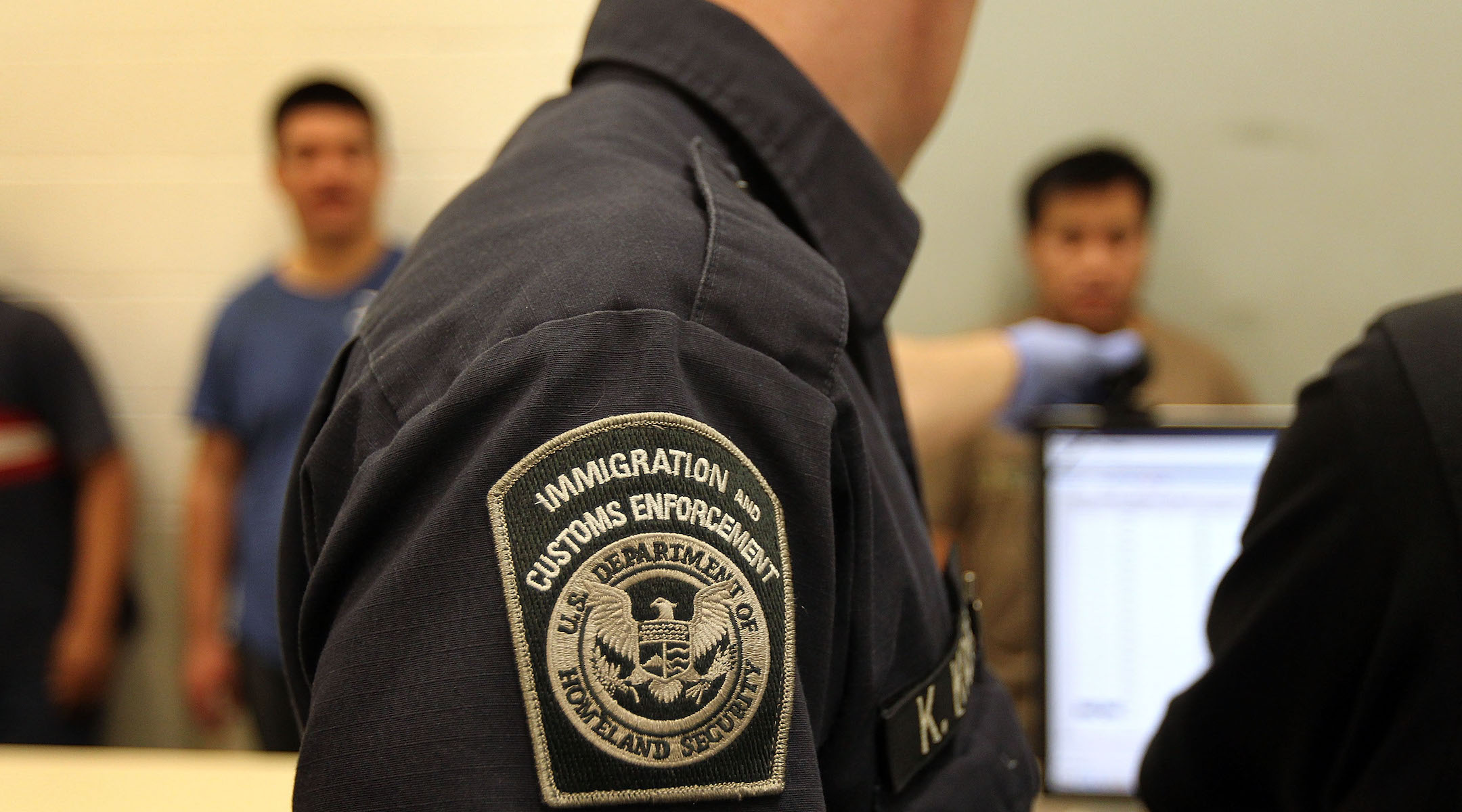 Undocumented Mexican immigrants are photographed while being processed at the Immigration and Customs Enforcement center in Phoenix, Ariz., April 28, 2010. (Photo/JTA-John Moore-Getty Images)