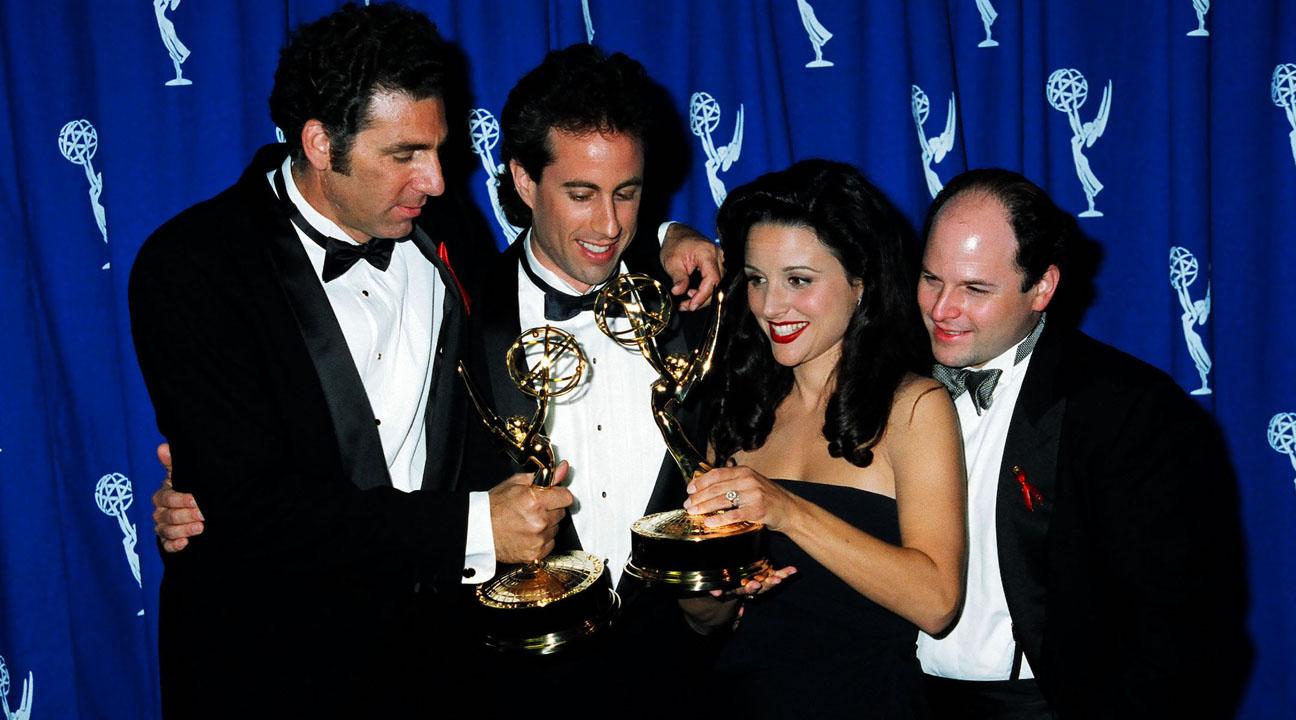 "The stars of ""Seinfeld"" at the 1993 Emmy Awards (Photo/JTA-Jeff Kravitz-FilmMagic, Inc-Getty Images)"