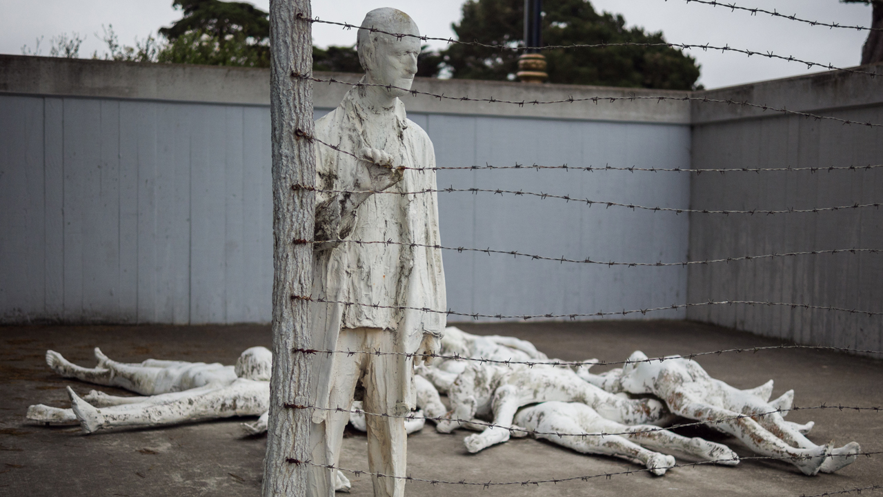 Holocaust Memorial by George Segal at the California Legion of Honor in San Francisco.