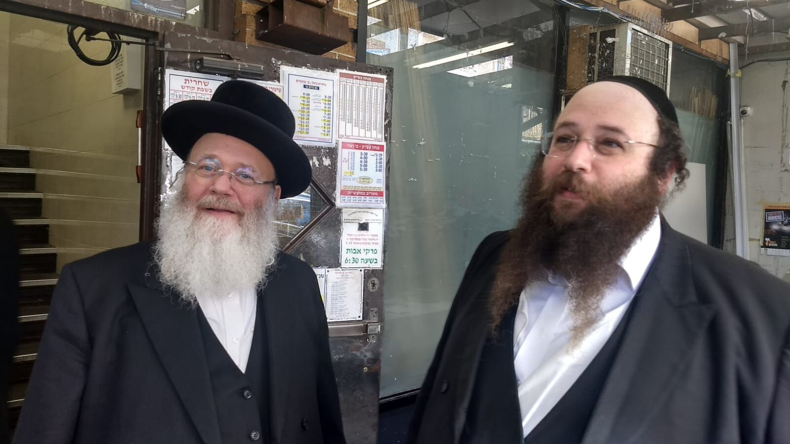 Yosef Rapaport, left, and his son Alexander do not feel that life has become more dangerous for Orthodox Jews in Brooklyn. They say attacks on Jews are nothing new. (Photo/JTA-Ben Sales)