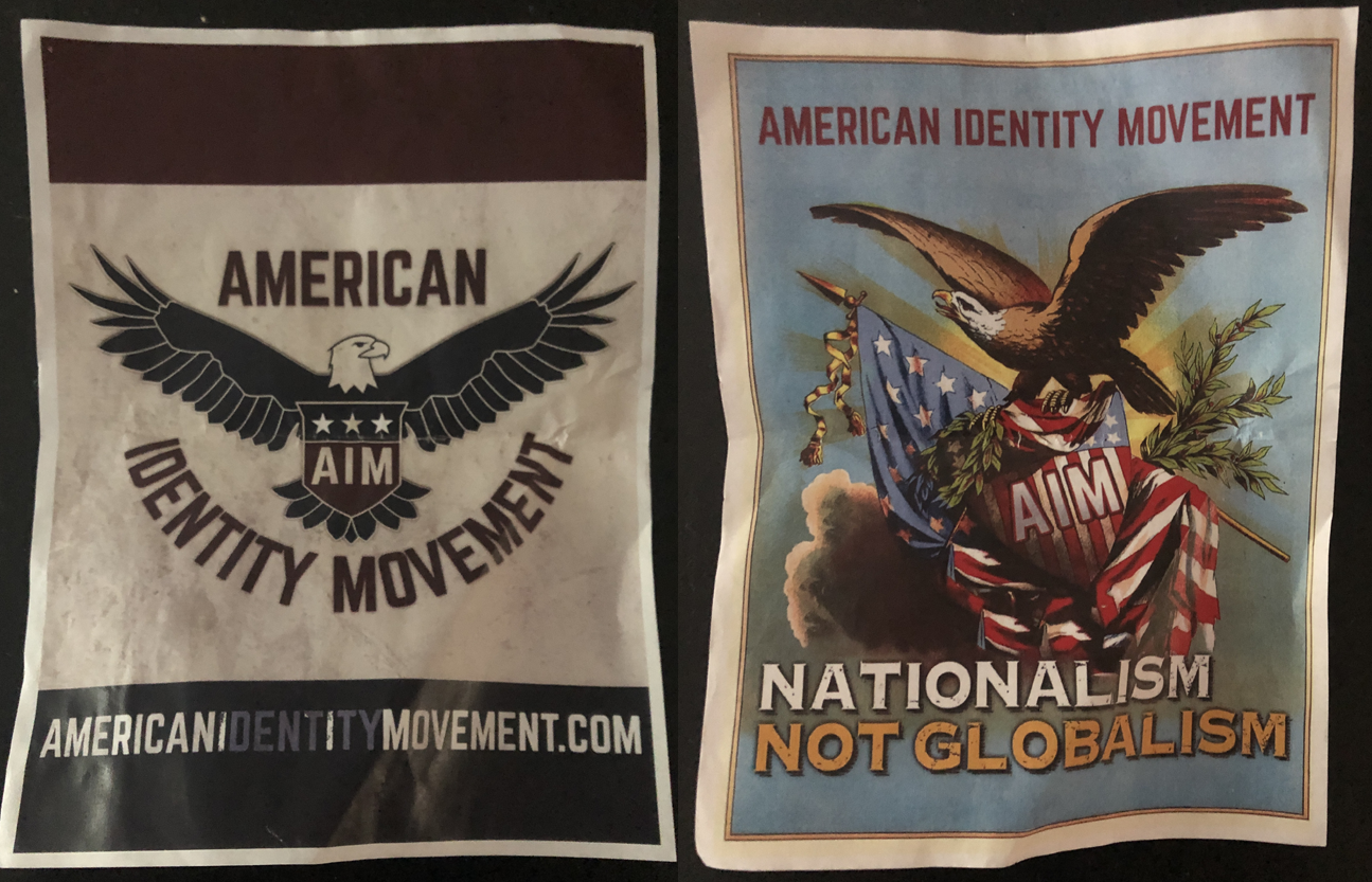 American Identity Movement posters found at UC Davis this month (Photos/Asa Jungreis)