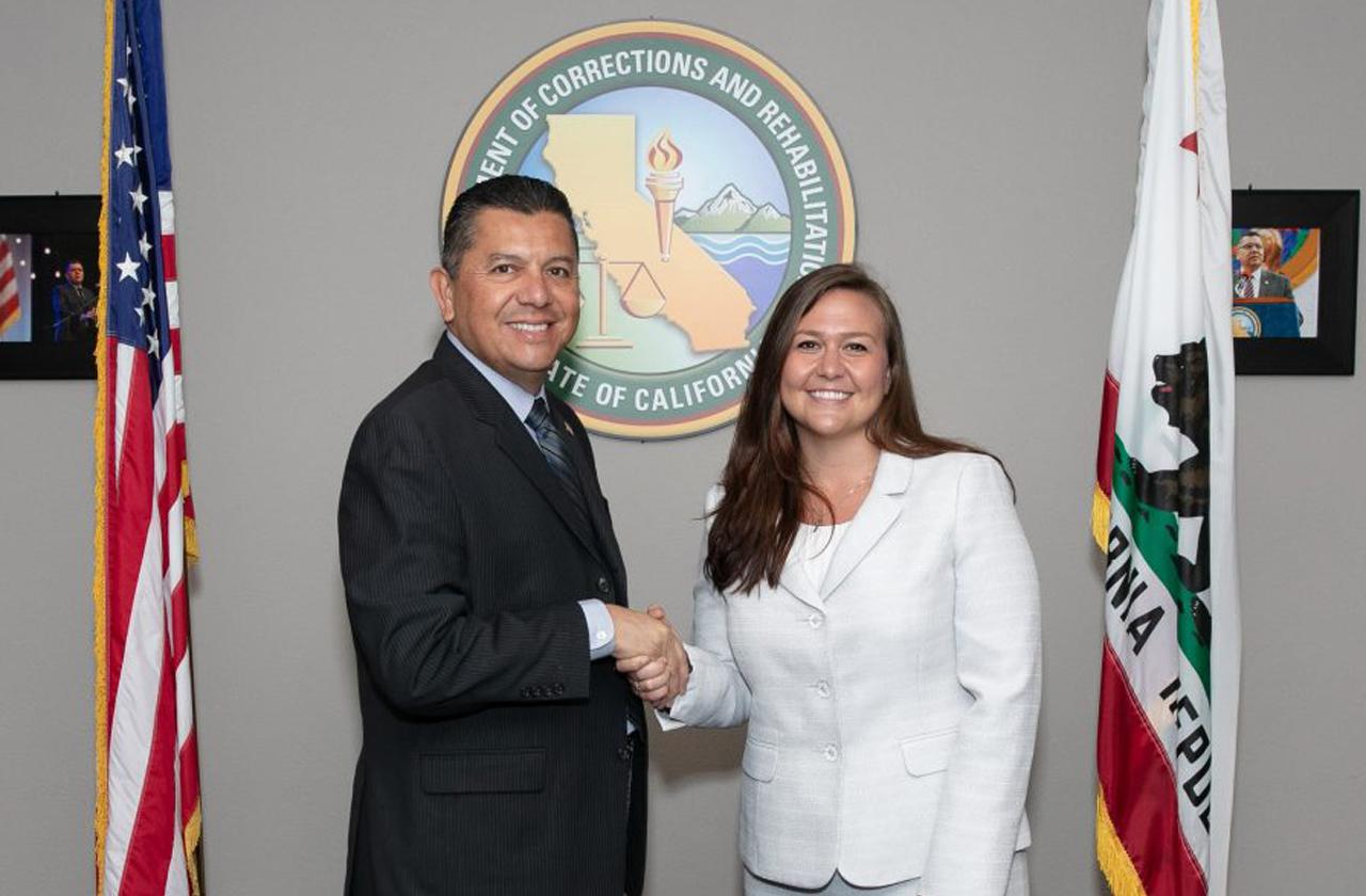 California Department of Corrections and Rehabilitation Secretary Ralph Diaz with department press secretary Dana Simas