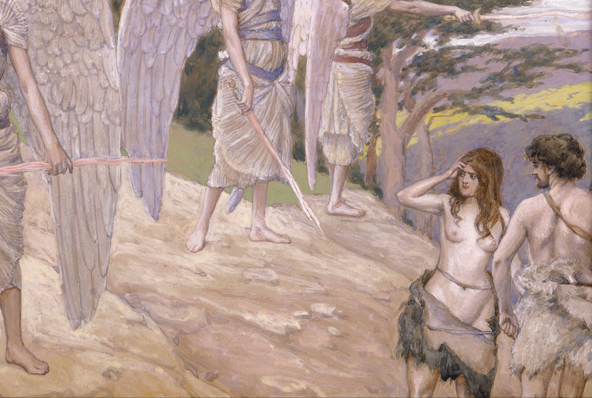 "Detail from ""Adam and Eve Driven From Paradise"" by James Tissot, 1900"