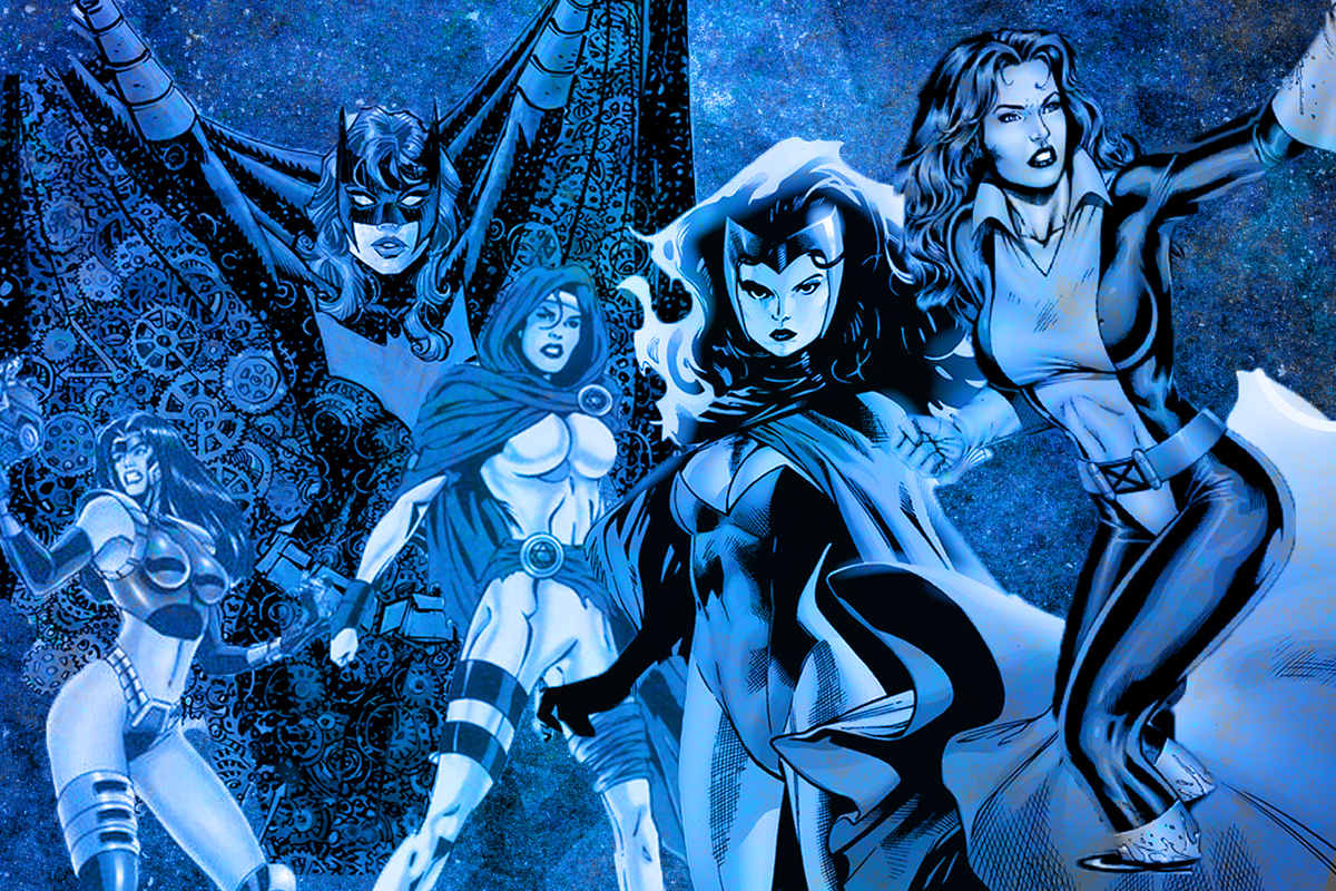 (From left) Masada, Batwoman, Sabra, Scarlet Witch and Shadowcat /Collage by Alma