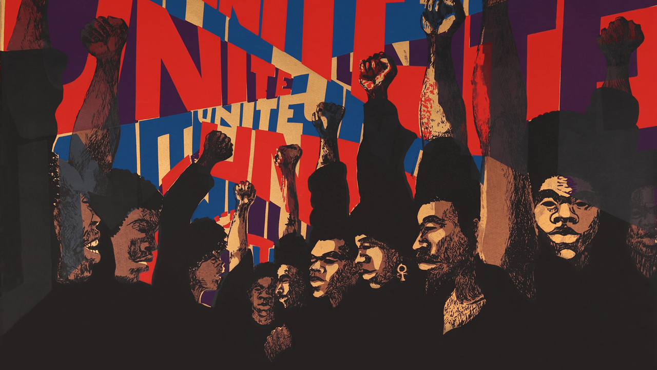 """Unite"" (1971) by Barbara Jones-Hugu, from the exhibit ""Soul of a Nation: Art in the Age of Black Power"""