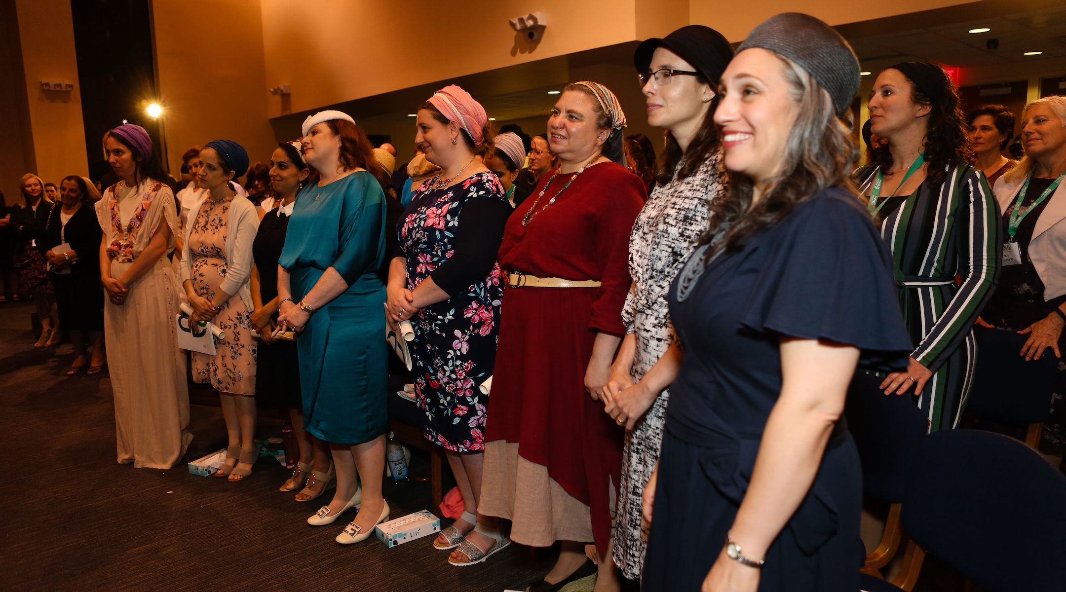 Yeshivat Maharat students attend a graduation ceremony in New York, June 17, 2019. (JTA/Shulamit Seidler-Feller/Yeshivat Maharat)