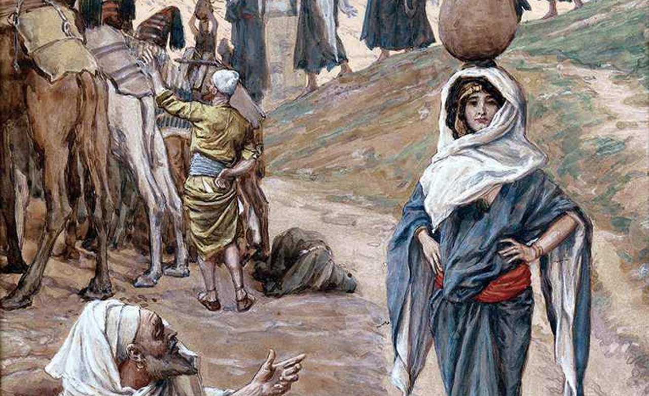 "Detail from ""Abraham's Servant Meets Rebecca"" by James Tissot, ca. 1900"