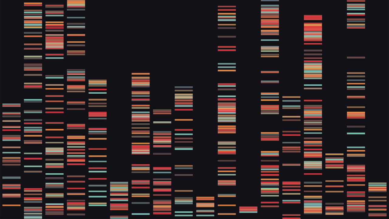Abstract visualization of DNA results